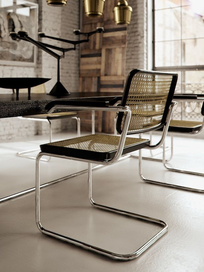 Marcel Breuer Cesca Chair With Armrests Rocking Cushions Walmart Escena Furniture Design Transito Inicial Website
