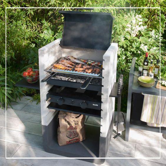 Construction foyer barbecue en briques Projets à essayer