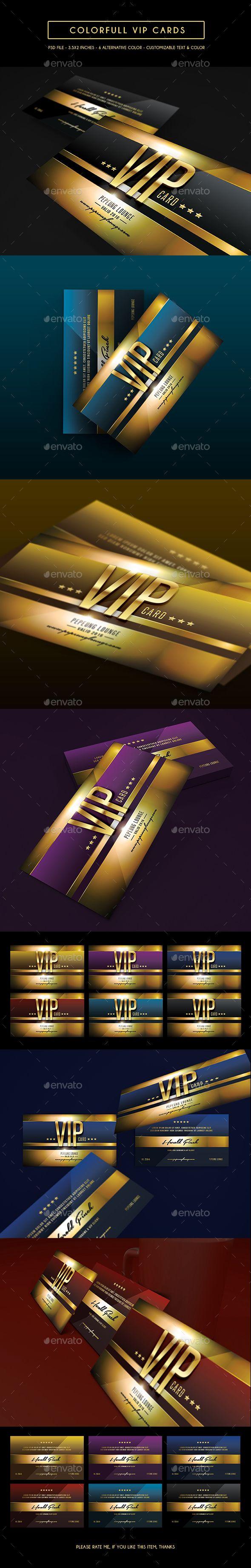 Multipurpose Colorfull Vip Card | Modelos de tarjetas, Credito y ...