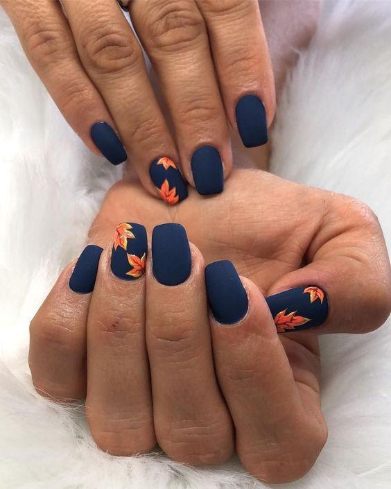 55 Outstanding Fall Nails Designs Ideas For Your Ravishing Look Fall Nail Art Designs Cute Acrylic Nails Fall Nail Designs