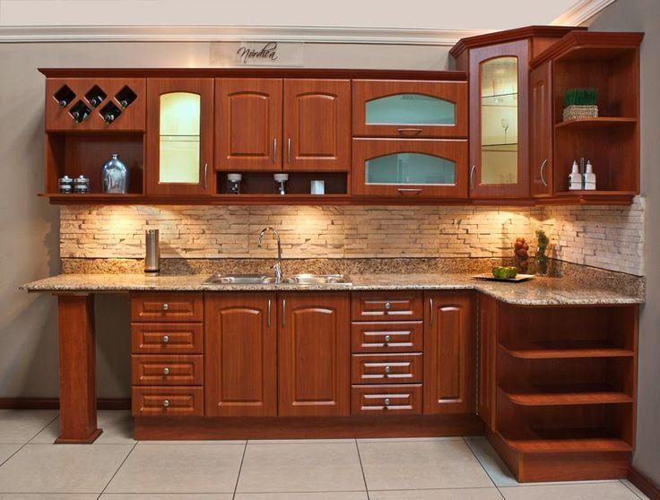 Resultado de imagen para cocinas en madera modernos for Comprar gabinetes de cocina