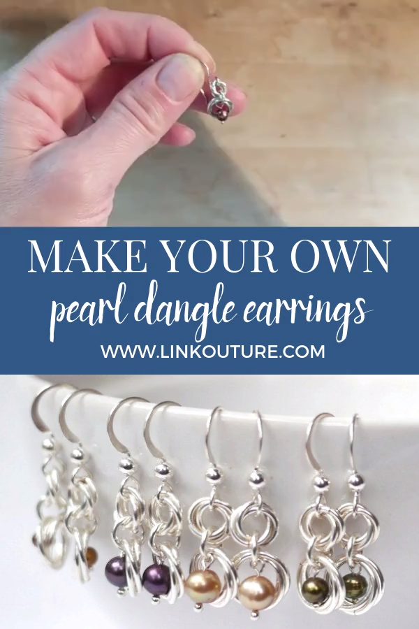 Photo of Easy DIY dangle pearl silver earrings