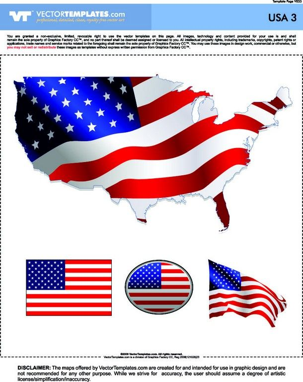 USA Map and Flags [United States - EPS-CDR-AI File] Free Company ...