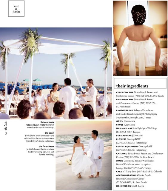 Real Wedding Published In The Knot Florida!