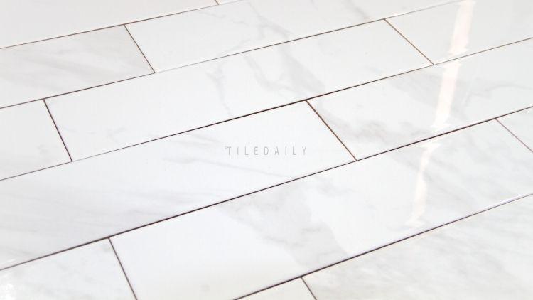 P0099we 4x16 White Carrara Ceramic Tile Ceramic Tiles