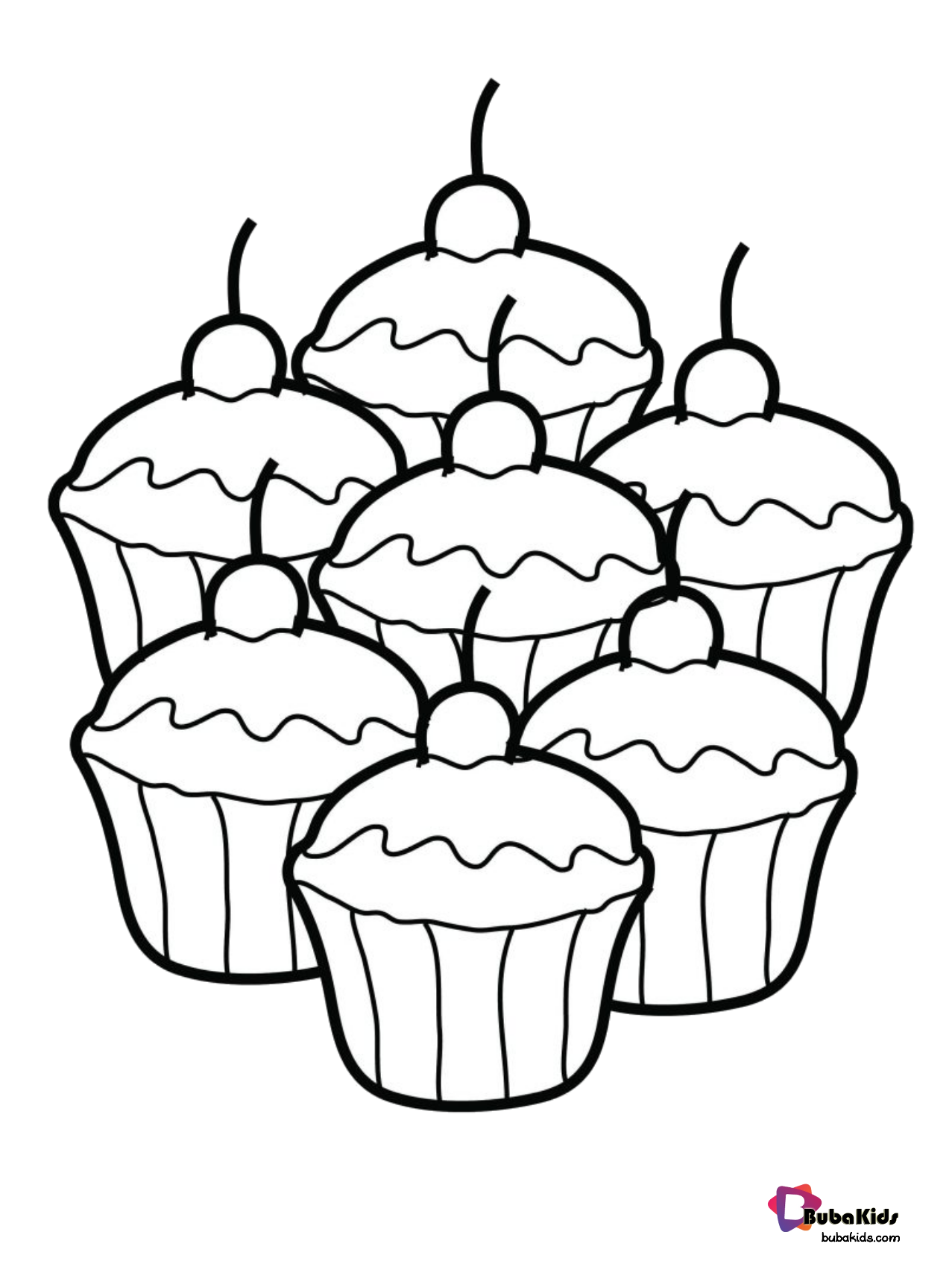 Easy Coloring Food Coloring Page Cupcakes Collection Of Cartoon Coloring Pages For T In 2020 Food Coloring Pages Kids Printable Coloring Pages Cupcake Coloring Pages