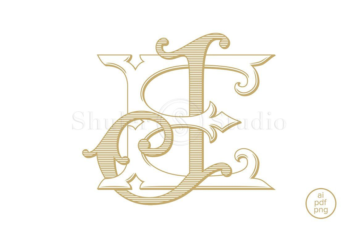 Ej Monogram Je Monogram Monogram Vintage Monogram Symbol Design