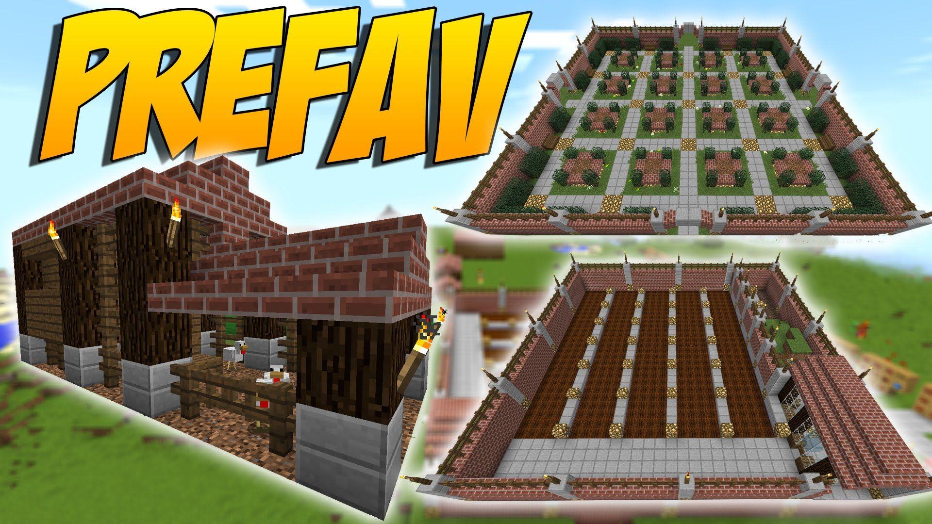 PREFAV: Mod De Estructuras Instantaneas Casa Granjas Salas De Cofres - Minecraft  Mod 1.10.2/1.10