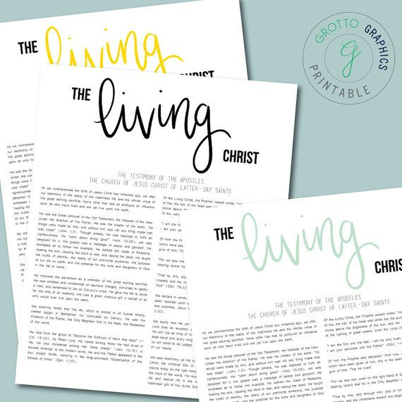 picture about The Living Christ Printable named PRINTABLE The Dwelling Christ 11\