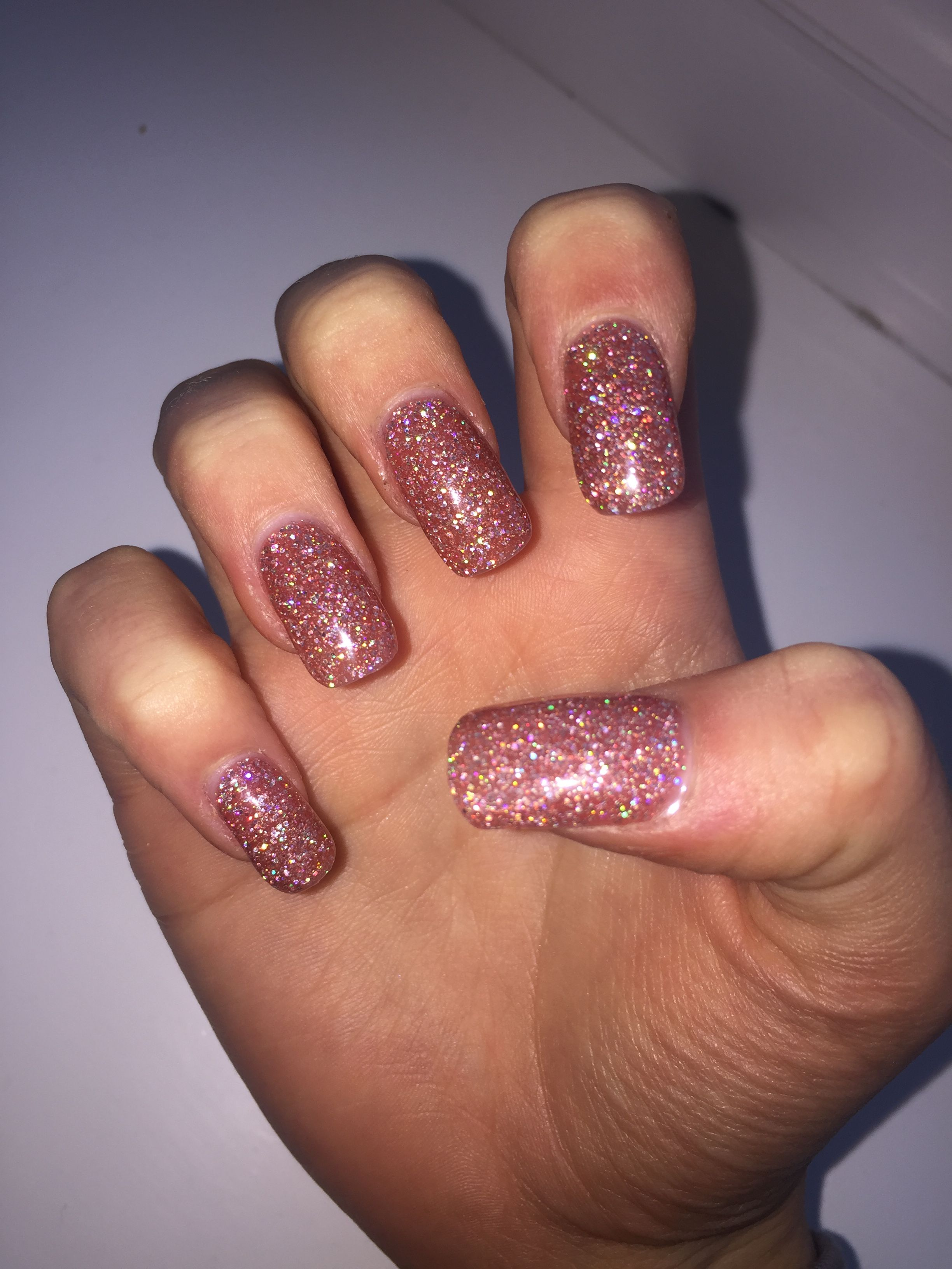 gorgeous glitter acrylic nails with gel polish #acrylics #nails ...
