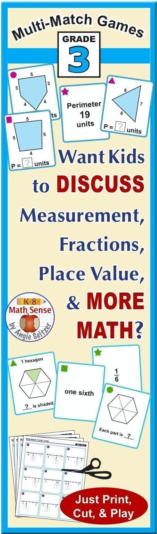 BONUS BUNDLE Grade 3 MultiMatch Math Games for Common
