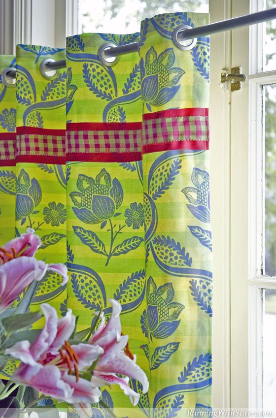 How To Sew Palm Beach Cafe Curtains Cafe Curtains Curtains No