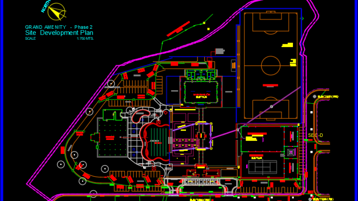 Resort Site Plan And Drainage Reflection Free Drawing Site Plan Architecture Model Resort