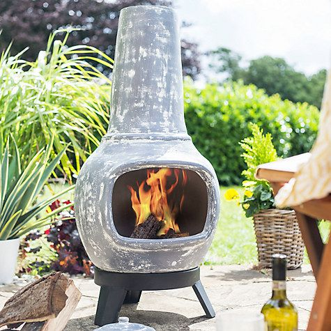 Buy La Hacienda Langdale Clay Chiminea Online At Johnlewis.com