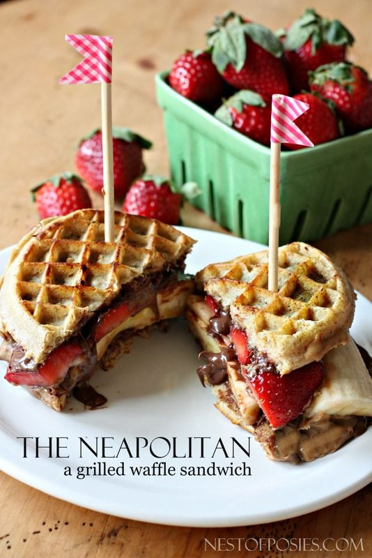 Grilled Neapolitan Waffle Sandwich Receta Postres Saludables