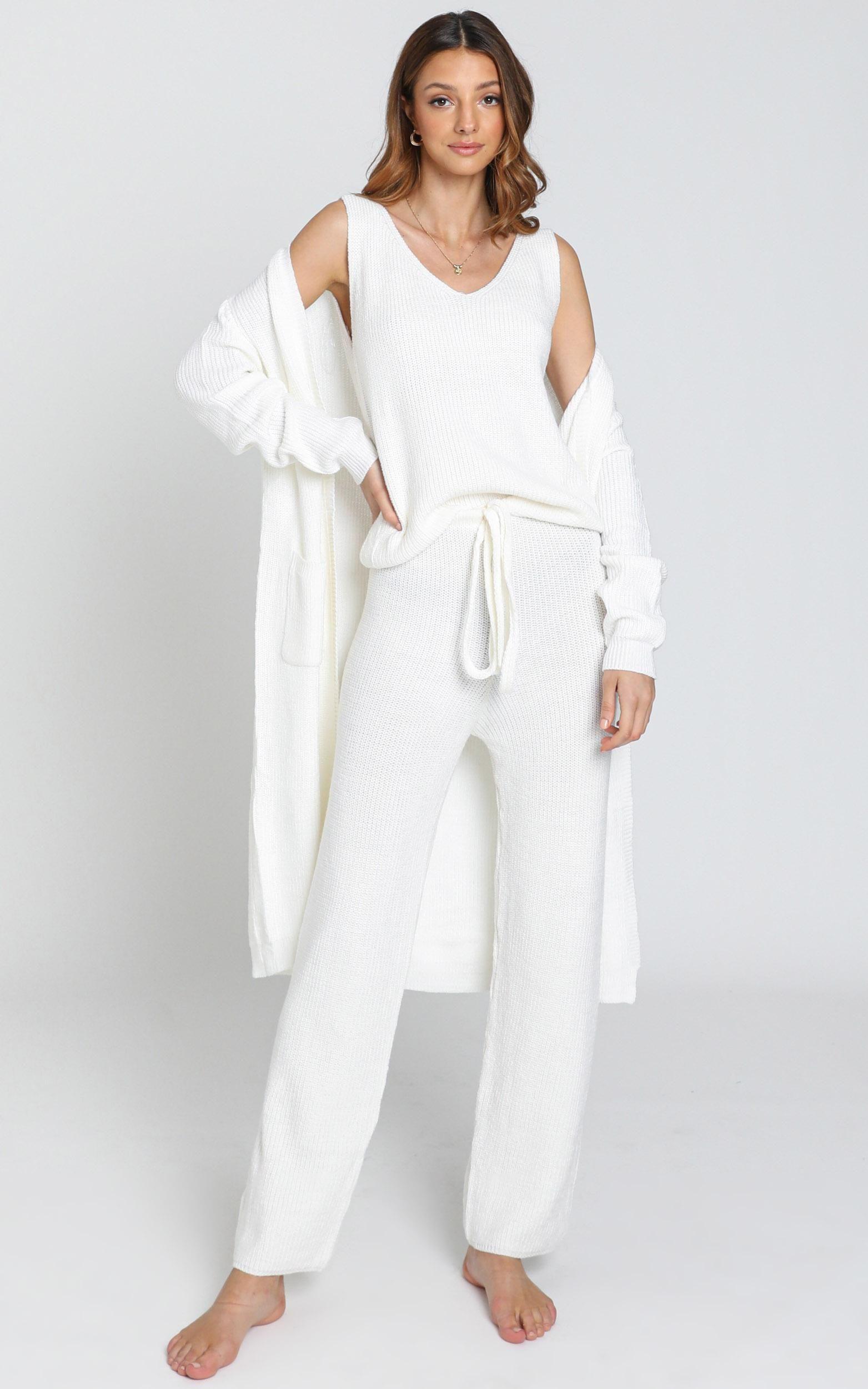 Luxe Lounge Knit Cardigan In Cream Showpo Lounge Wear Stylish Luxe Lounge Lounge Wear [ 2500 x 1563 Pixel ]