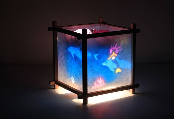 Soothe Your Child With A Mermaid Kids Rotating Lamp By Magic Lamp Kids Lamps Paper Lamp Lamp