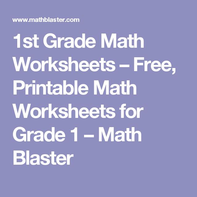 1st Grade Math Worksheets Free Printable Math Worksheets For