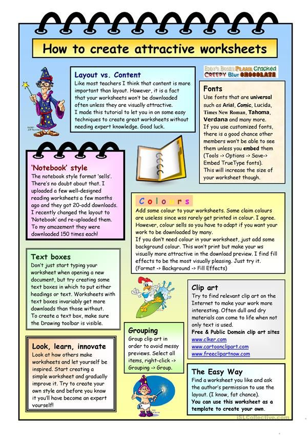 How To Create Compact Worksheets Classroom English Pinterest