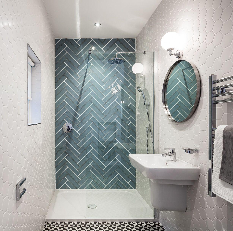 Hexagon Duży Biały Połysk aranżacje | bathroom | Pinterest | Room ...