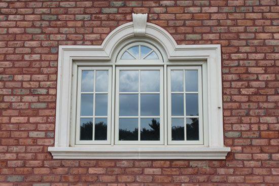 Custom Stone Molding Around Window Cast Stone Window Trim Look Great Over New Or Existing Br Stone Exterior Houses House Window Design Exterior Window Molding