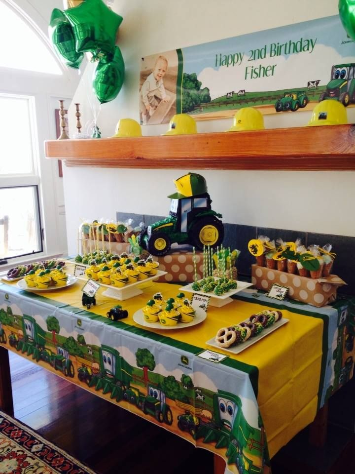Sweets Table For John Deere Themed Kids Birthday Party