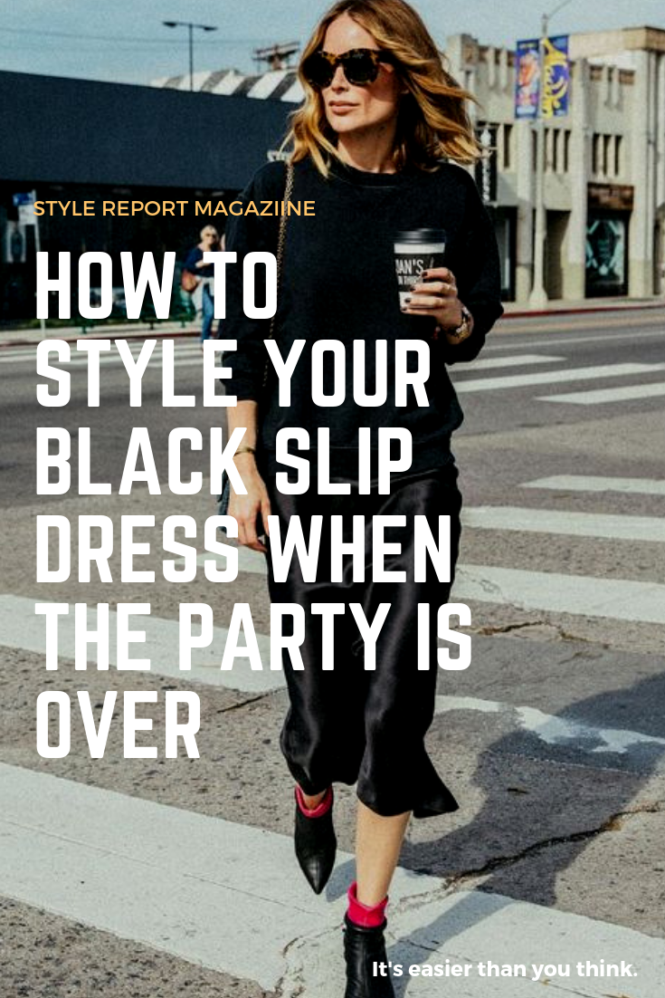 dcbca33b51dc Simple ways to Style your Black Slip Dress. Pair your LBD Chunky Sweater  and Booties