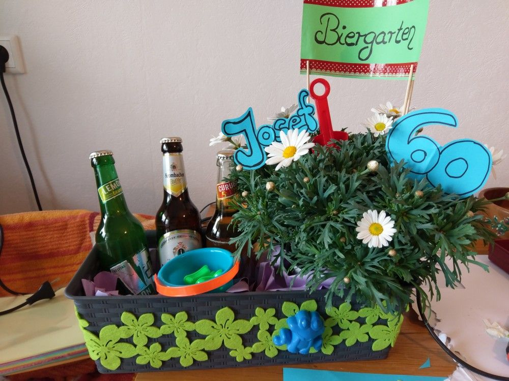 Biergarten geschenk geburtstag geschenk geschenke geburtstag und selbermachen - Geschenke zum 70 geburtstag selber machen ...