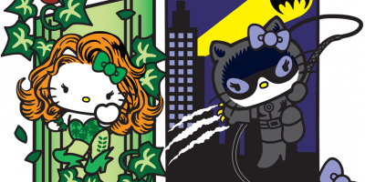 DC Comics  Sanrio team up for Hello Kitty Villians - Ivy and Cat Woman....how awesome!