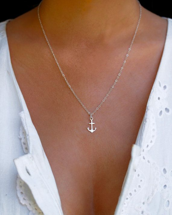 14eb6795685d Sterling Silver Anchor Necklace