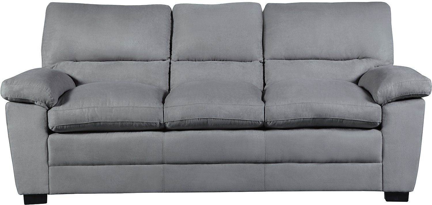 Charming Indulge In The Soothing, Soft Feeling Of This Peyton Microsuede Sofa.  High Density Foam Fills The Pillow Top Seat Cushions, While The Overstuffed  Back ...