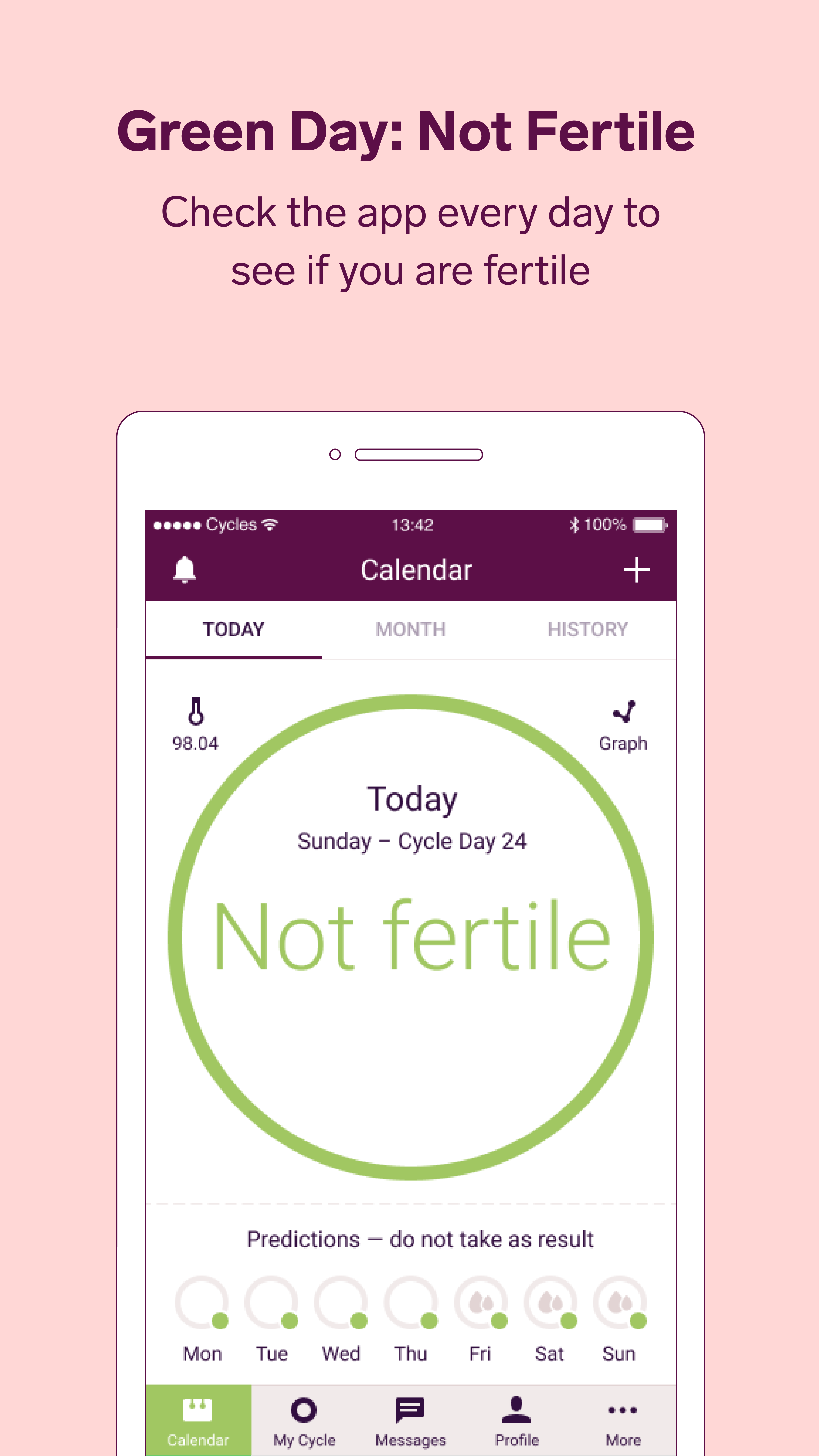 Idé av Natural Cycles Birth Control på The App Fri