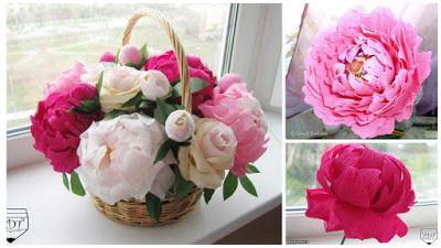 Cómo Hacer Arreglos Florales Con Papel Crepe Para El Día De