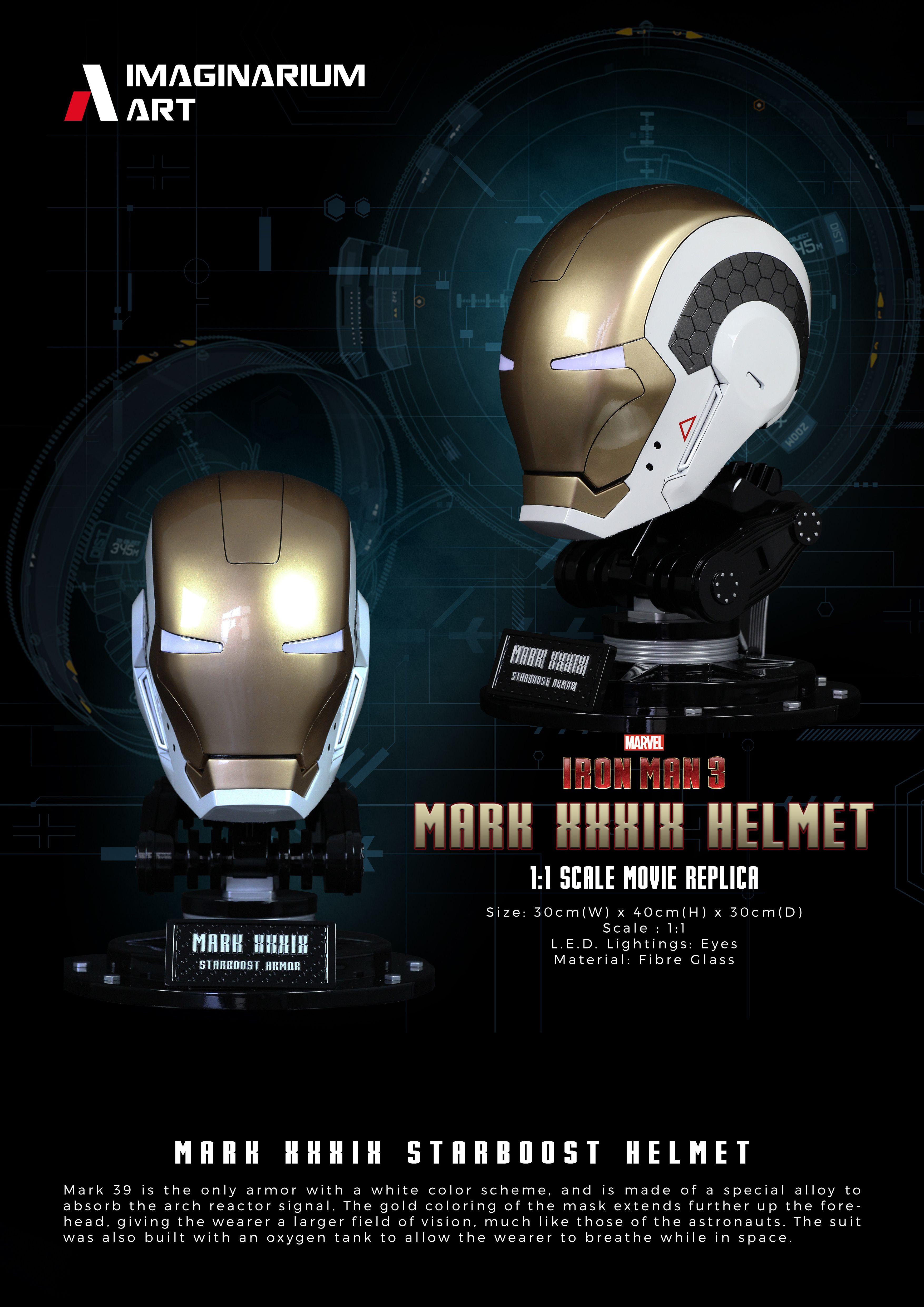 Iron Man Mark 39 1 1 Helmet By Imaginarium Art Art Marvel Iron Man Movie Replica