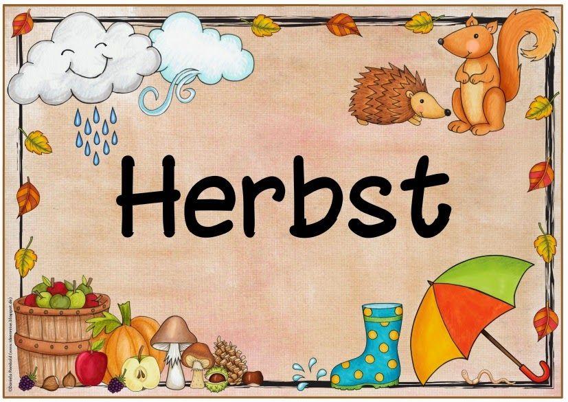 """jahreszeitenplakat """"herbst""""  kindergarten portfolio"""
