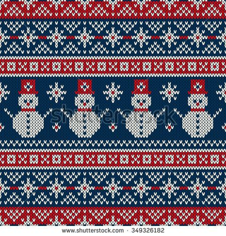 50334d1b6f12 Winter Holiday Sweater Design. Seamless Knitted Pattern - stock vector