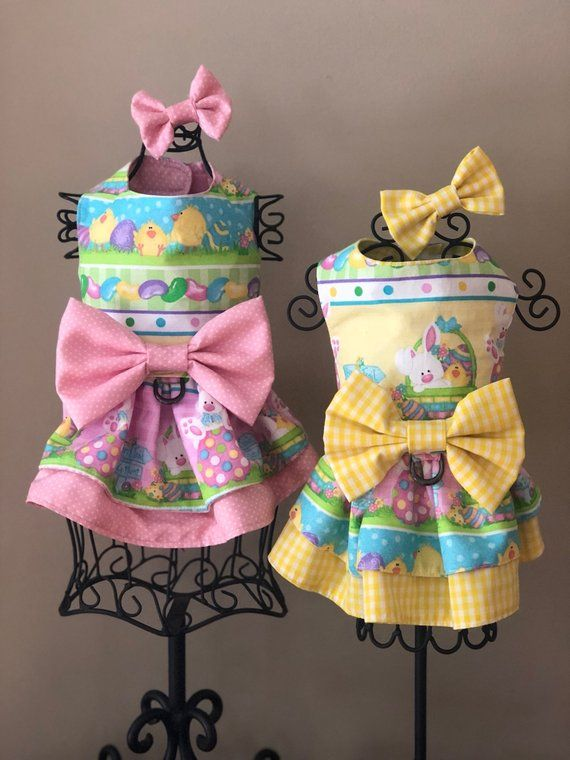 Spring easter bunny theme Dog Harness dress  adc003b19