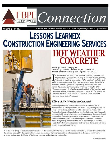 July 2013 News #Florida Board of Professional #Engineers