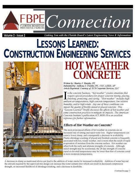 July 2013 News Florida Board Of Professional Engineers Engineering