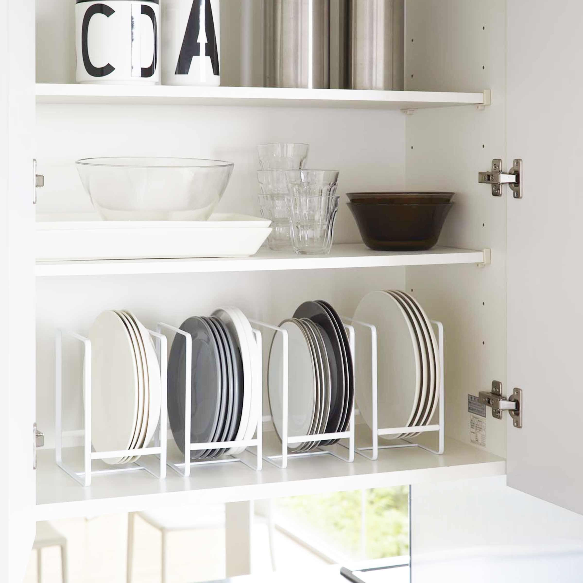 rangement des assiettes Range assiette blanc - rangement vertical vaisselle