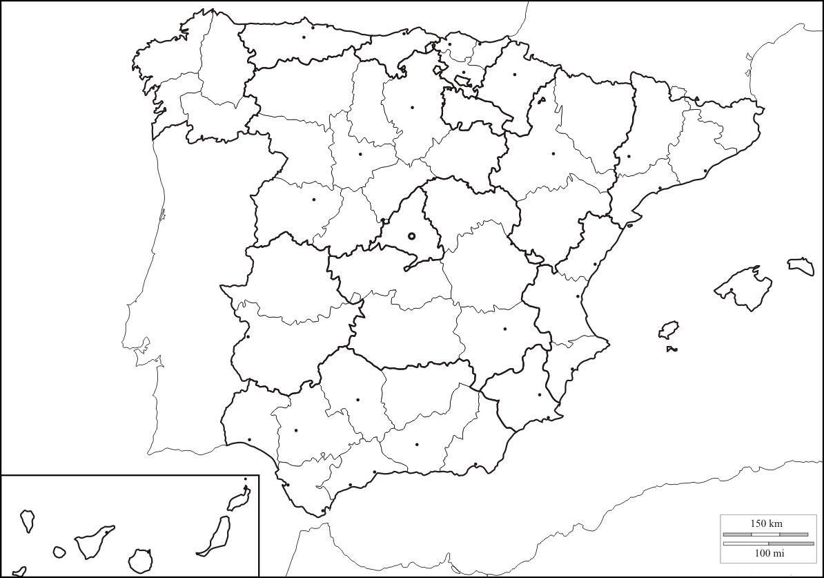 Mapa Mudo Comunidades Autonomas España Para Imprimir.Mapa Politico Espana Mapa De Galicia Mapas Y Mapa Politico