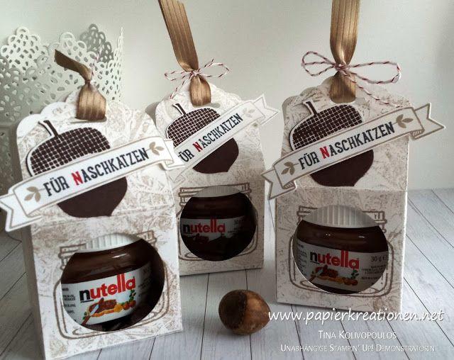 Meine Swaps Vom Teamtreffen Verpackung Fur Mini Nuss Nougat Creme Glaschen Nutella Glaser Nutella