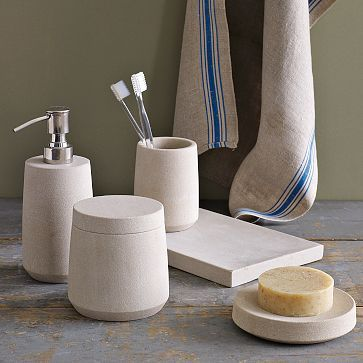 Stoneware Bath Accessories By West Elm Greek Bathroom
