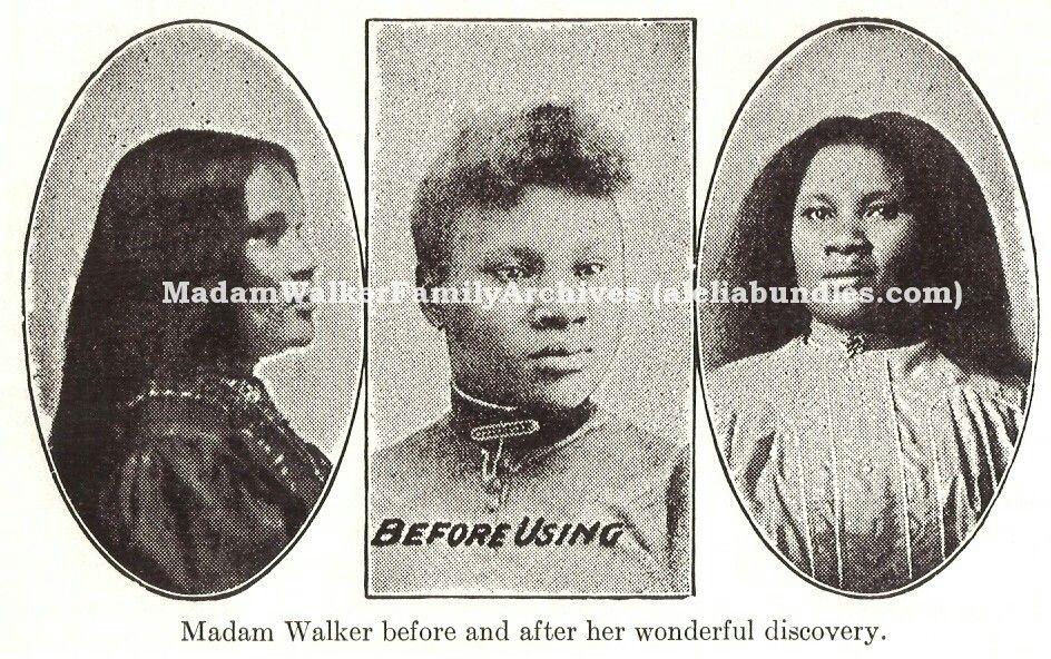 Madam CJ Walker Madam cj walker, Black hair, African