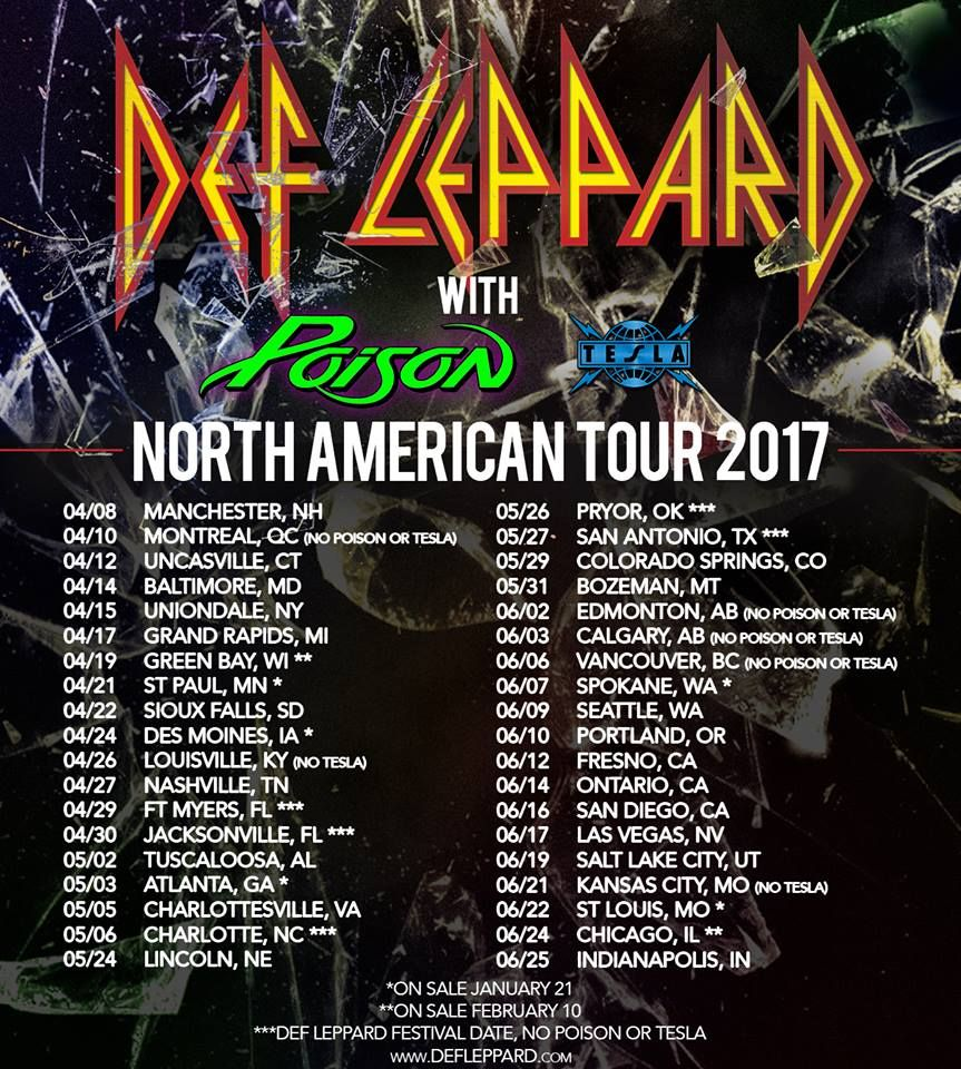def leppard announces north american tour dates #defleppard