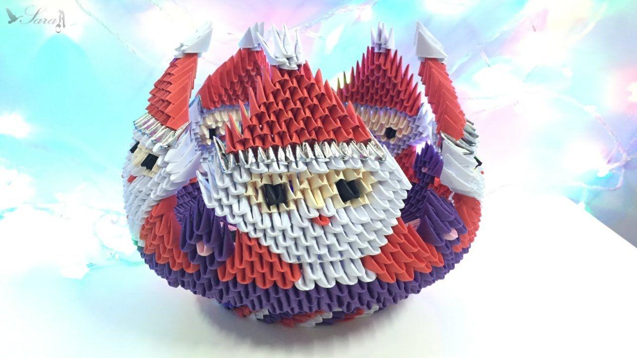 How to make 3d origami bowl santa claus part 3 3d origami how to make 3d origami bowl santa claus part 3 jeuxipadfo Images