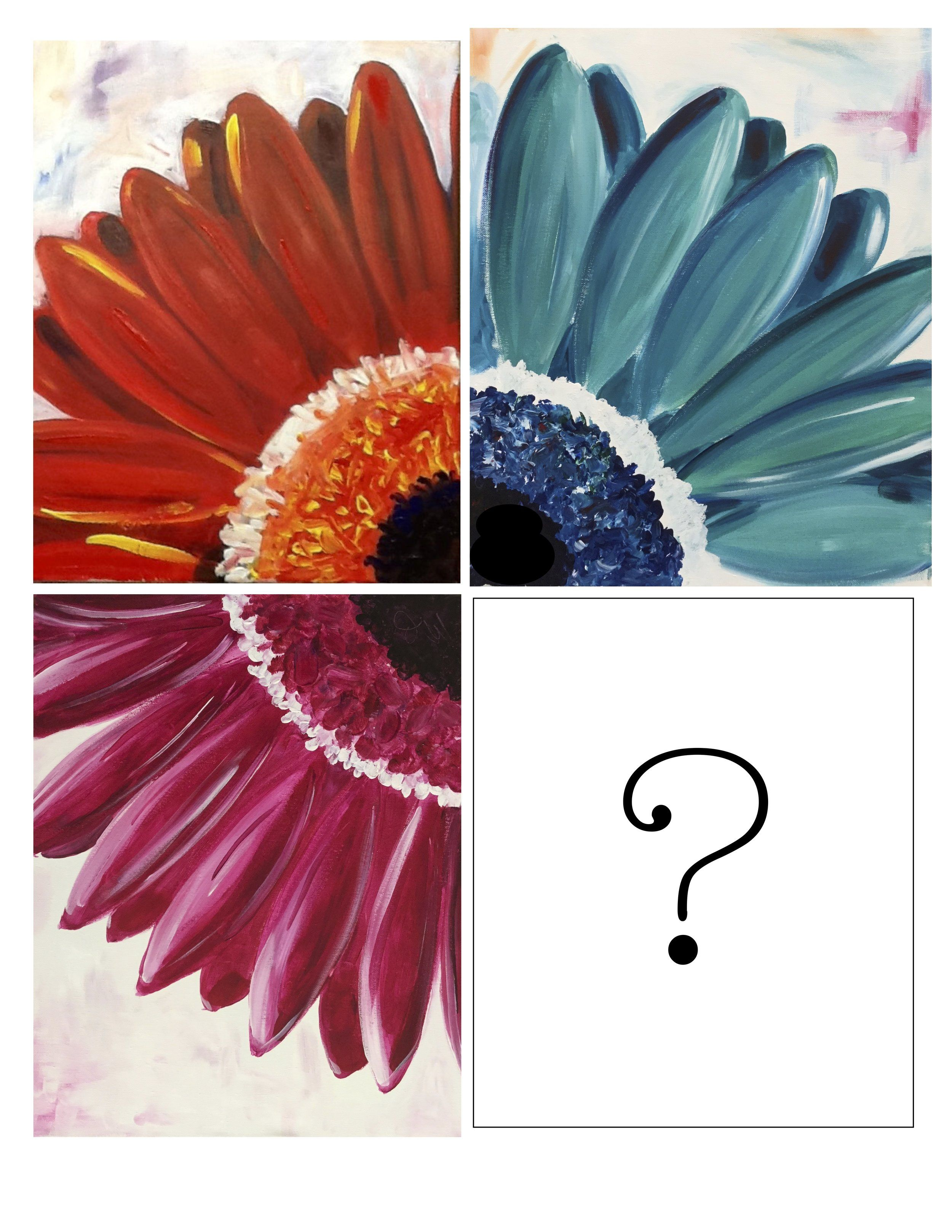 Paint Night Gerber Daisy With Images Gerber Daisies Painting