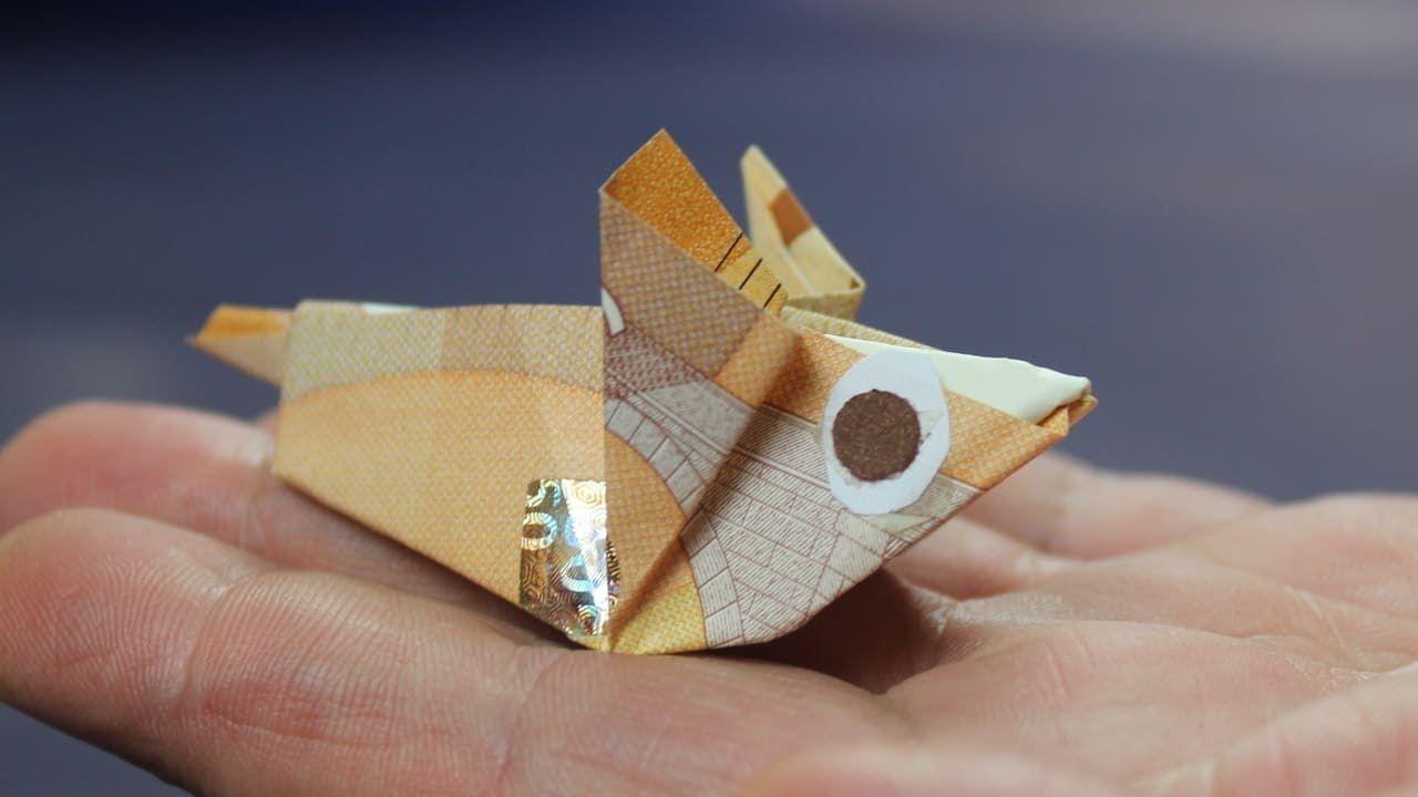 Geldscheine Falten Maus Geld Falten Geldgeschenk Basteln