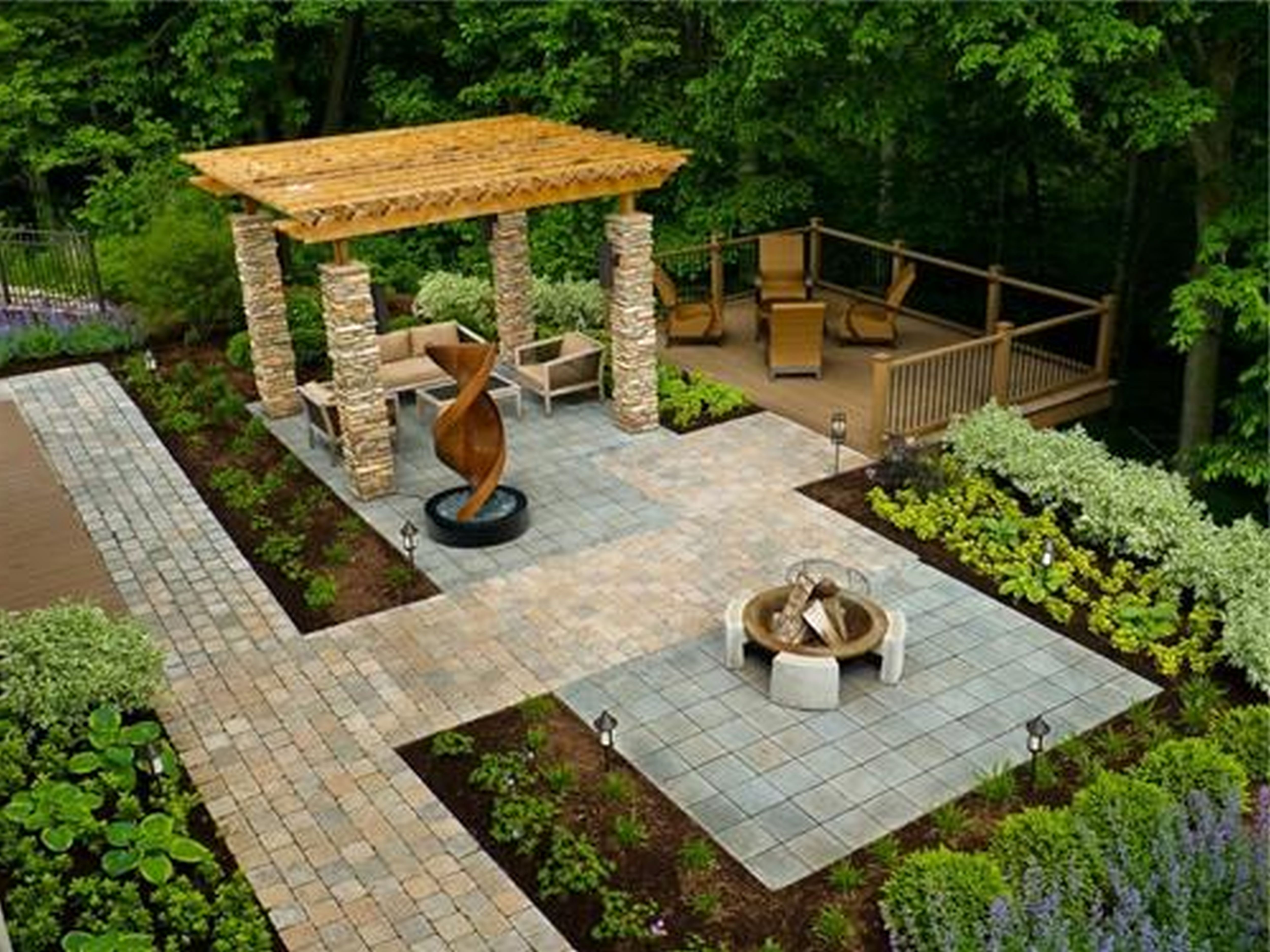 Cheap landscaping ideas for backyard google search for Landscape garden design ideas