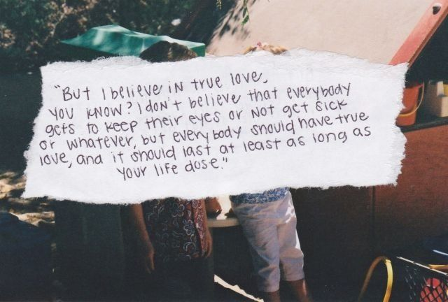 True love quote from Fault in Our Stars